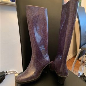 Authentic Marc Jacob Heart Tall Heel Rain Boots